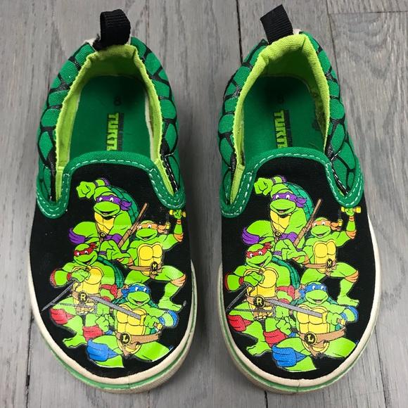 4c49589adb ... tmnt shoes age mutant ninja turtles slip on sneakers poshmark ...
